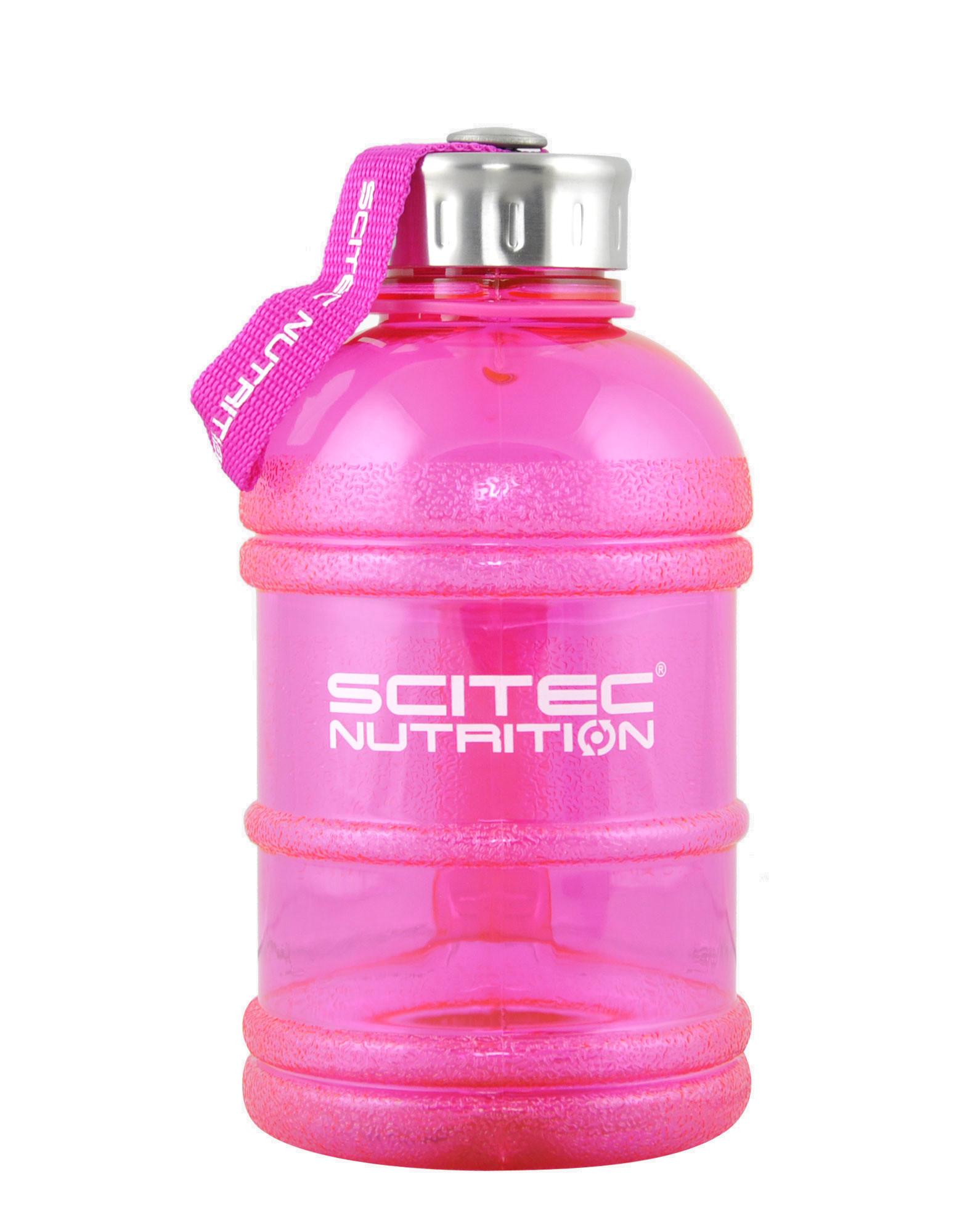 Botella de agua color rosada 1 lt.